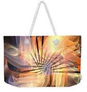 Floral Supernova Weekender Tote Bag