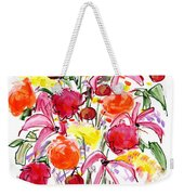 Floral Thirteen Weekender Tote Bag