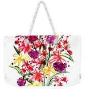 Floral Three Weekender Tote Bag