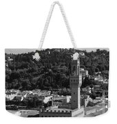 Florence - Black And White Weekender Tote Bag