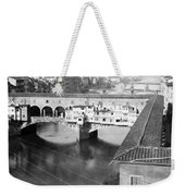 Florence Italy - Vecchio Bridge And River Arno Weekender Tote Bag