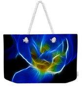 Flower - Coral Blue - Abstract Weekender Tote Bag