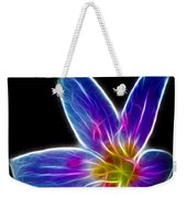 Flower - Electric Blue - Abstract Weekender Tote Bag
