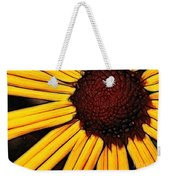 Flower - Yellow And Brown - Abstract Weekender Tote Bag
