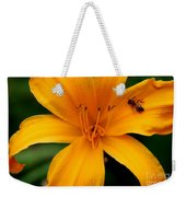 Flower And Bee Weekender Tote Bag