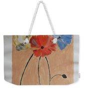 Flower And Bud Weekender Tote Bag