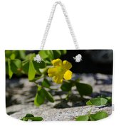 Flower And Dancing Clover Weekender Tote Bag