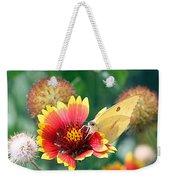 Flower Butterfly Weekender Tote Bag