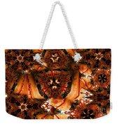 Flower Pattern In Sepia Weekender Tote Bag