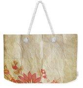 Flower Pattern On Old Paper Weekender Tote Bag