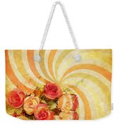 Flower Pattern Retro Style Weekender Tote Bag