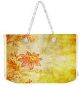 Flower Pattern Weekender Tote Bag by Setsiri Silapasuwanchai