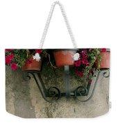 Flower Pots On Old Wall Weekender Tote Bag