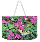 Butterfly And Flowers  Weekender Tote Bag