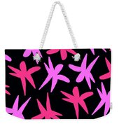 Flower Stars  Weekender Tote Bag by Louisa Knight