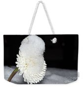 Flower With Snow Weekender Tote Bag