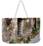 Flowered Stairway Weekender Tote Bag