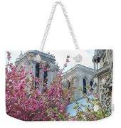 Flowering Notre Dame Weekender Tote Bag