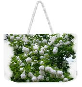 Flowering Snowball Shrub Weekender Tote Bag