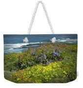 Flowers Along The Shore At La Jolla California No.0203 Weekender Tote Bag