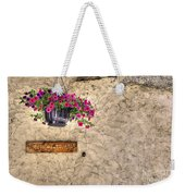 Flowers And A Signboard Weekender Tote Bag