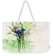Flowers And Butterfly Weekender Tote Bag