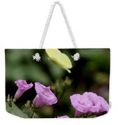 Flowers And Butterfly Weekender Tote Bag