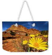 Flowers And Buttes Weekender Tote Bag