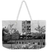 Flowers At Citi Field In Black And White Weekender Tote Bag by Rob Hans