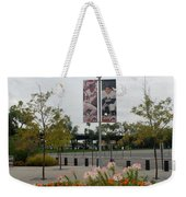 Flowers At Citi Field Weekender Tote Bag by Rob Hans