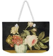 Flowers In A Delft Jar  Weekender Tote Bag
