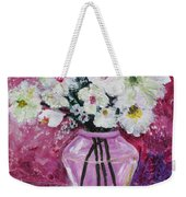 Flowers In A Magenta Room Weekender Tote Bag