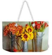 Flowers In Cans Weekender Tote Bag