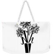 Flowers In Type Weekender Tote Bag