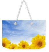 Flowers Over Sky Weekender Tote Bag