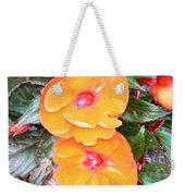 Flowers Plastic Or Real  Weekender Tote Bag