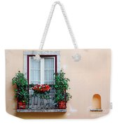 Flowery Balcony Weekender Tote Bag by Carlos Caetano