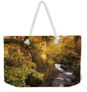 Flowing Water Through A Forest Weekender Tote Bag