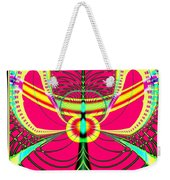 Fluorescent Butterfly Fractal 68 Weekender Tote Bag