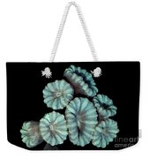 Fluorescent Coral In In White Light Weekender Tote Bag