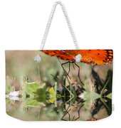 Fluttering Reflections - Butterfly Weekender Tote Bag