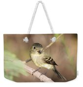 Flycatcher On A Branch Weekender Tote Bag