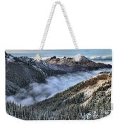 Fog Below Hurricane Weekender Tote Bag