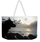 Fog On The Rocks Sunrise Weekender Tote Bag