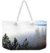 Fog On Wood Lake Weekender Tote Bag