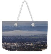 Fog Over A Grants Pass Morning Weekender Tote Bag