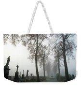 Foggy Cemetery Weekender Tote Bag