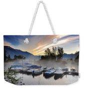 Foggy Port In Sunrise Weekender Tote Bag