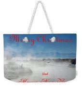 Foggy River Christmas Weekender Tote Bag