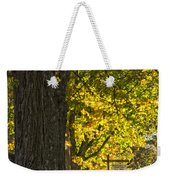 Foliage At The Cemetery Weekender Tote Bag